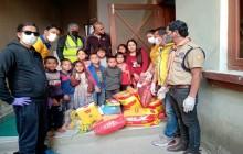 लायन्स क्लब अफ काठमाण्डौ गौरब द्धारा वनस्थली र कपनमा राहत वितरण