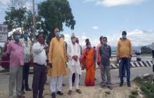 सांसद सिंहद्वारा नदीहरूको स्थलगत अवलोकन निरीक्षण