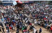 जबर्जस्ती  मच्छिन्द्रनाथको रथयात्रा: प्रहरीद्वारा बलप्रयोग