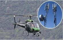 व्यासको छाङ्गरुमा टेलिकम टावर निर्माण शुरु, हेलिकोप्टर मार्फत टावरका समान ढुवानी
