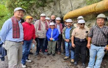 ऊर्जामन्त्री भुसालद्धारा माथिल्लो अरुण जलविद्युत्को स्थलगत निरिक्षण